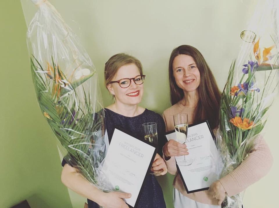Vuoden 2016 Freelancerit Katja Tähjä ja Kaisa Viitanen
