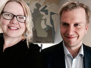 Hanna-kaisa Hämäläinen ja Jussi Salokangas iloitsevat valtuuston päätöksestä.